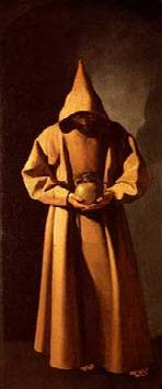 St. Francis meditating on death